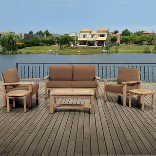 Amazonia San Francisco 6-piece Teak Sunbrella Outdoor Deep Seating Set