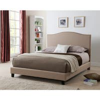 Laurence Platform Bed with Nail-head Headboard