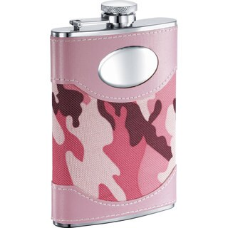 Visol GI Jane Pink Camouflage 8-ounce Liquor Flask (Option: Pink)