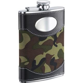 Visol GI Joe Green Camouflage 8-ounce Liquor Flask