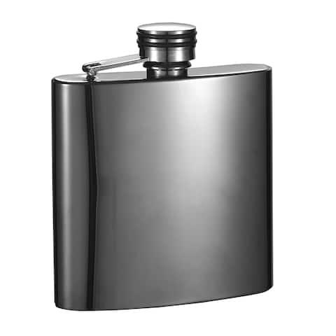 Visol Outlaw II Gunmetal Short 6-ounce Liquor Flask