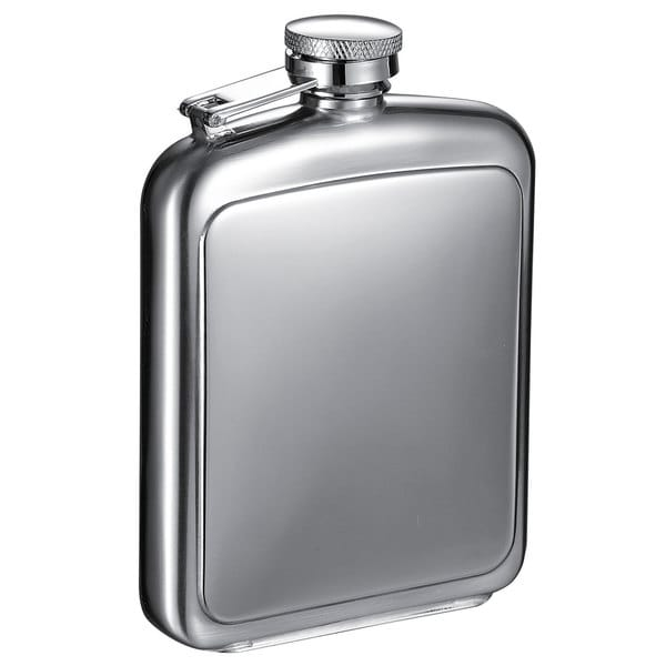 Visol Vitak Polished and Brushed Stainless Steel 8-ounce Liquor Flask