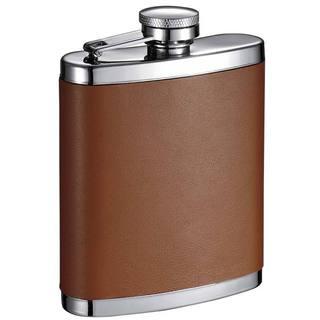 Visol Robert Brown Leather 6-ounce Liquor Flask