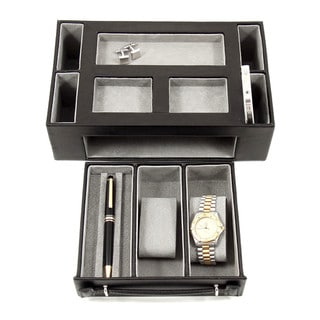 Link to Bey Berk 'Darren' Leather Multi-Compartment Watch Valet Similar Items in Watch Accessories