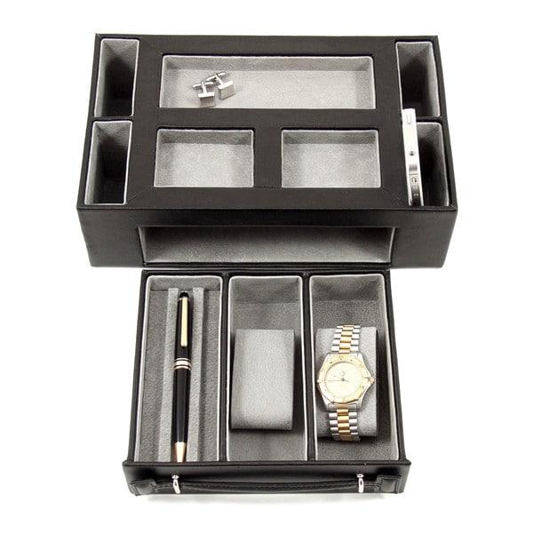 Bey Berk 'Darren' Leather Multi-Compartment Watch Valet. Opens flyout.