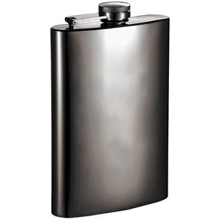 Visol Brons Mirrored Gunmetal 8-ounce Liquor Flask