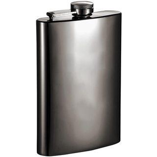 Visol Brons Mirrored Gunmetal 8-ounce Liquor Flask