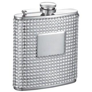 Visol Brylee White Bling 6-ounce Liquor Flask