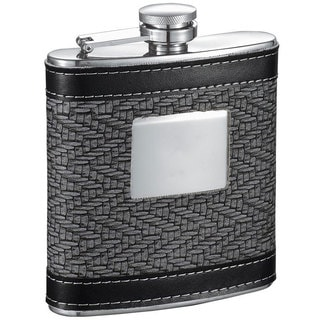Visol Helix Grey and Black Pattern 6-ounce Liquor Flask