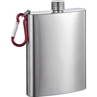 Visol Carabineer Stainless Steel 8-ounce Liquor Flask