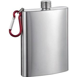 Visol Carabineer Stainless Steel 8-ounce Liquor Flask - Silver