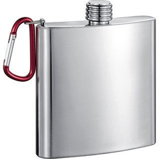 Visol Carabineer Stainless Steel 6-ounce Liquor Flask