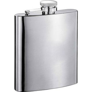 Visol Seville Satin Stainless Steel 7-ounce Liquor Flask