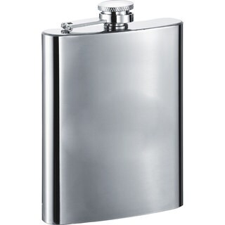 Visol Todd Polished Stainless Steel 8-ounce Liquor Flask