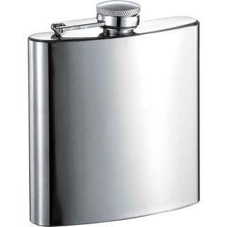 Visol Armandos Classic Polished Stainless Steel 6-ounce Liquor Flask