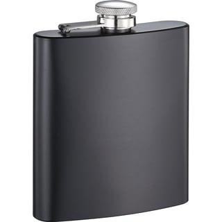 Visol Jambo Black Matte 8-ounce Rubberized Flask