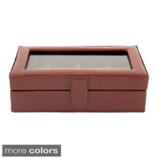Bey Berk 'Eric' Leather 12 Cufflink Case