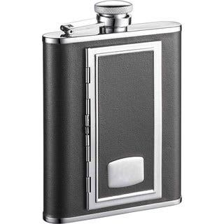 Visol SP Black with Built-In Cigarette Case 6-ounce Liquor Flask|https://ak1.ostkcdn.com/images/products/10060127/P17205385.jpg?impolicy=medium