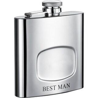 Visol Da Man Best Man 6-ounce Liquor Flask