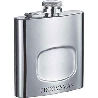 Visol Da Man Groomsman 6-ounce Liquor Flask