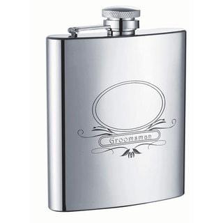 Visol Groomsman Stainless Steel 8-ounce Liquor Flask