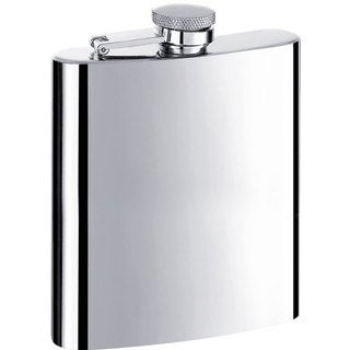 Visol Ray Mirror Stainless Steel 8-ounce Liquor Flask