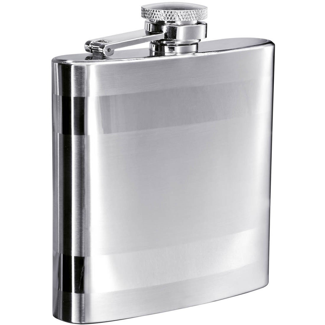Visol Band Two-Tone Stainless Steel 6-ounce Liquor Flask ...