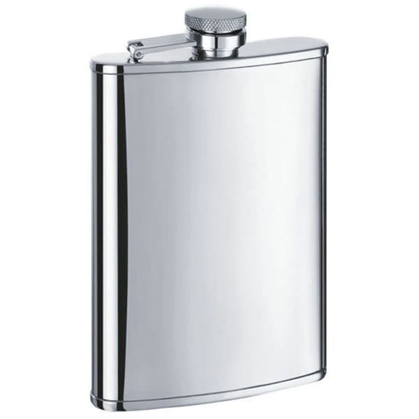 Visol Edge Satin Stainless Steel 8-ounce Liquor Flask