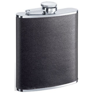 Visol Ano Black Leather 6-ounce Liquor Flask|https://ak1.ostkcdn.com/images/products/10060154/P17205408.jpg?impolicy=medium