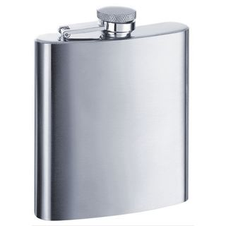 Visol Derek Satin Stainless Steel 8-ounce Liquor Flask