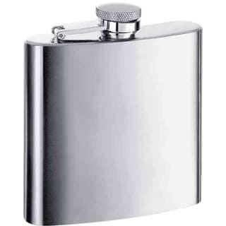 Visol Derek Satin Stainless Steel 6-ounce Liquor Flask