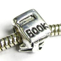 Queenberry Sterling Silver Book European Bead Charm