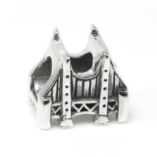 Queenberry Sterling Silver Golden Gate Bridge Travel European Bead Charm