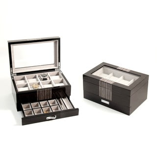 Bey Berk 'Raffi' High Lacquered Watch and Accessory Box