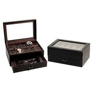 Bey Berk 'Alex' Leather Watch and Accessory Jewelry Box