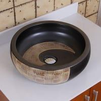 ELIMAX'S  2004  Black and Gold Brown Porcelain Ceramic Bathroom Vessel Sink