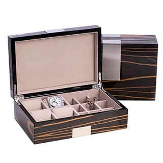 Bey Berk 'Richard' High Lacquered Watch and Cufflink Box