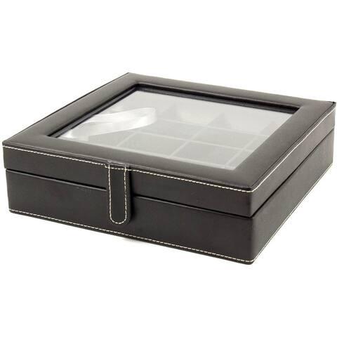 Bey Berk 'Francis' Leather 20 Cufflink Storage Box