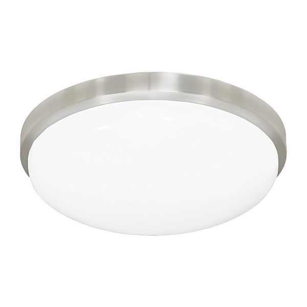 JESCO Classic Round LED Driverless Ceiling Fixture with Acrylic Shade