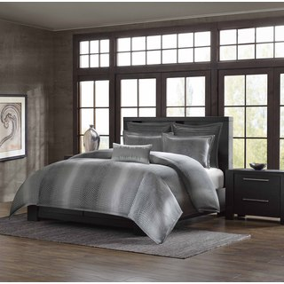 Shagreen Grey Cotton Duvet Cover Mini Set