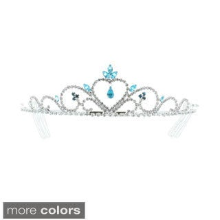 Kate Marie 'Mia' Rhinestones Crown Tiara Headband with Hair Combs