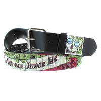 Faddism Women's Genuine Leather 'Only God Can Judge Me' Belt