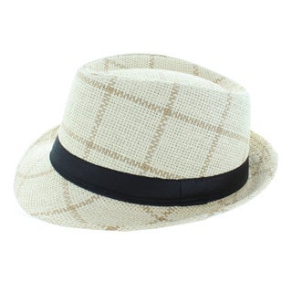 Faddism Squares Fashion Fedora Hat