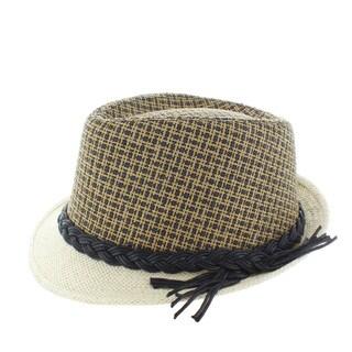 Faddism Cord Accent Fashion Fedora Hat