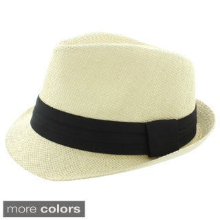 Faddism Solid Fashion Fedora Hat