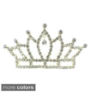 Kate Marie 'Abby' Rhinestone Crown Tiara Hair Pin