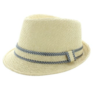 Faddism Fashion Fedora Hat in Beige