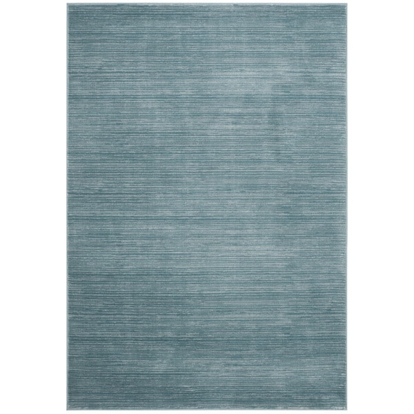 Shop Safavieh Vision Contemporary Tonal Aqua Blue Area Rug