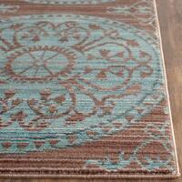 Safavieh Valencia Brown/ Alpine Distressed Silky Polyester Rug - 3' x 5'