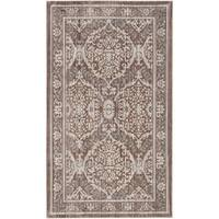 Safavieh Valencia Grey/ Brown Distressed Silky Polyester Rug - 3' x 5'